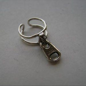 Sterling Silver Double Wire Zipper Pull Ear Cuff